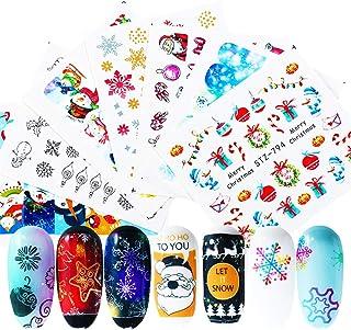 16Pcs/Set Xmas Decoration Stickers On Nails Merry Christmas Decal Water Nail Stickers Snowflake Santa Nail Art Manicure