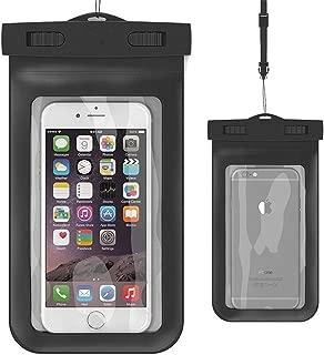 BK Waterproof Case,Asstar Universal Waterproof Case for Apple iPhone 6S, 6, 6S Plus, 5S, Galaxy S7, S6 Note 5, HTC, LG, Motorola up to 5.5 inch and Card, Passport, Wallet (Black)