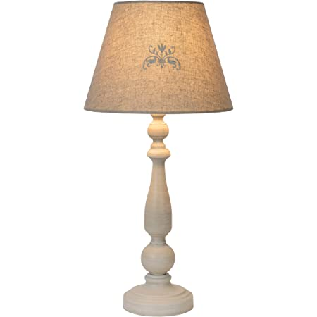 Lucide 34539/81/41 Lampe de table, Bois, 40 W, Taupe