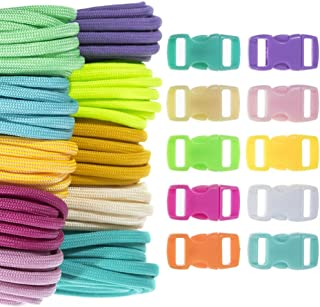 Craft County 100 Foot 550 Paracord Crafting Kits – Multiple Theme Options – for All Ages and Skill Levels – Create Paracord Bracelet, Lanyard, Keychain Projects