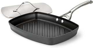Calphalon Contemporary Hard-Anodized Aluminum Nonstick Cookware, Panini Pan, 13 3/4-inch, Black