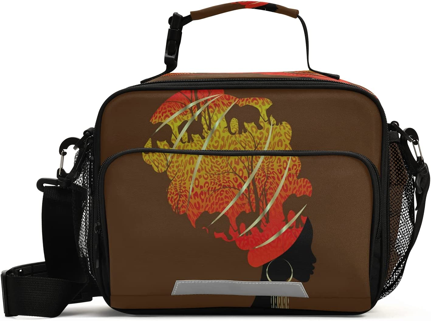 African American Lady Kids Lunch Max 48% OFF B Insulated Bags Ranking TOP1 Reusable