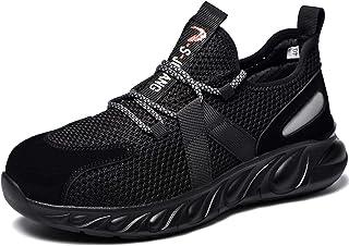 Safety Shoes Steel Toe Cap Trainers Men Women Utility Footwear Lightweight Work Shoes Waterproof Soft Breathable Non Slip ...