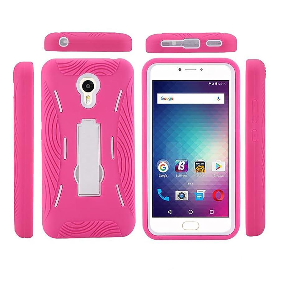 Blu Studio Max Case, Blu Studio Max Cover (S0310UU) Case, Premium Rugged Tough [Hybrid Dual Layer][Heavy Duty Protection][Kickstand] Case Cover (HD Pink on White)