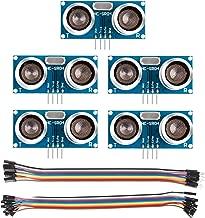 SunFounder 5 pcs Ultrasonic Module HC-SR04 Distance Sensor for Arduino UNO MEGA R3 Mega2560 Duemilanove Nano Robot Rapsberry Pi 3 B+, 2 & RPi Model B+ XBee ZigBee