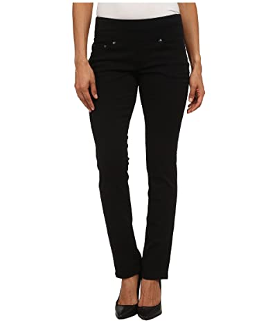 Jag Jeans Petite Peri Pull-On Straight Leg Pants in Bay Twill (Black) Women