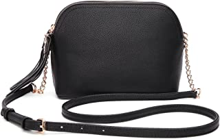 Mia K. Collection Crossbody Bags for women — Adjustable Strap — Vegan Leather —..