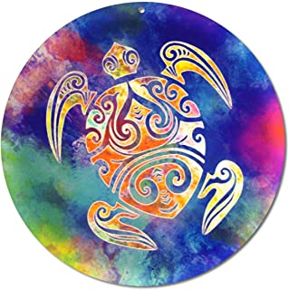 """Sun catcher"""" Tartaruga Maori"""" No. 15. Ø 15 cm/simbolo ornamento/immagine della finestra appendiabiti/vetro acrilico infran..."""