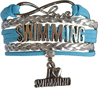 Infinity Collection Swim Bracelet- Girls Swimming Bracelet- Swim Jewelry for Swimmers