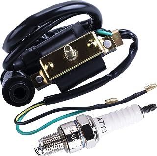 CNCMOTOK 50cc Falcom 70cc 90cc 110cc 125cc Ignition Coil Spark Plug for Coolster 3050B ATV-3050B 3050 B3050A Kids 4 Quad F...