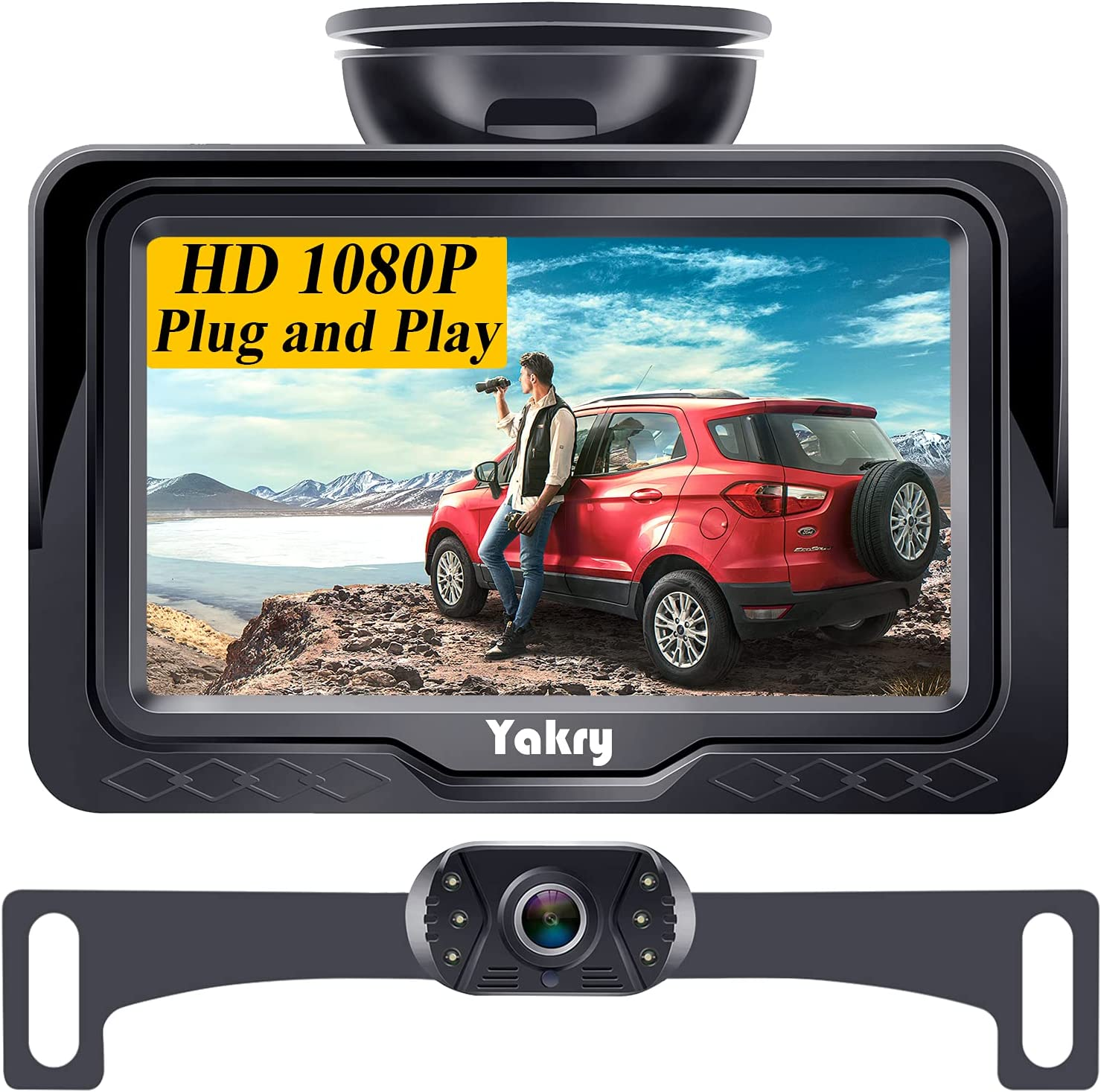 Backup Max Challenge the lowest price of Japan 80% OFF Camera for Car HD 1080P with Monitor Kit 6 Wire DIY One L