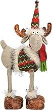 N&T NIETING Handmade Christmas Reindeer Doll Decoration, 16.5Inches Linen Deer Reindeer Toy Xmas Ornaments Santa Gifts for Kids Girls Boys