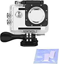 Vemico Action Camera Waterproof Case for AKASO EK7000 EK5000/ DBPOWER/Lightdow/Campark/WIMIUS/EKEN/ SJ4000/ ODRVM/Lightdow/APEMAN/NEXGADGET with Anti-Fog Inserts (Clear)