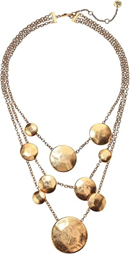 Disc Frontal Necklace 16""