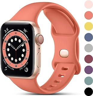CeMiKa Compatible con Apple Watch Correa 38mm 42mm 40mm 44mm, Deportivas de Silicona Correas de Repuesto Compatible con iW...