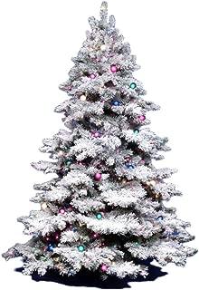 Vickerman 3Ft. Flocked Alaskan Unlite White on Green Christmas Tree w/ 116 Tip