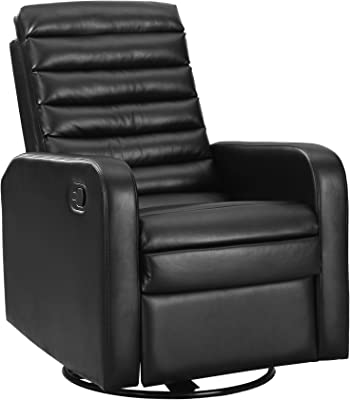 Miraculous Amazon Com Emerald Home Conrad Black Recliner With Faux Andrewgaddart Wooden Chair Designs For Living Room Andrewgaddartcom