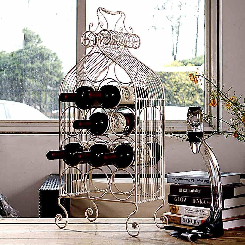 Racks Y botelleros de Vino Estantes de Vino Hierro Varios refrigeradores de Vino Wine rojo Wine Decoración Decoración botelleros para Vino (Color   Negro)