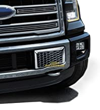 Justautotrim Front Bottom Bumper Moulding Chrome Cover trims Kit for 2015 2016 2017 Ford F150 F-150 Accessories