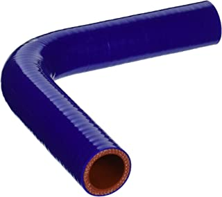 HPS HTSEC90-100-BLUE Silicone High Temperature 4-ply Reinforced 90 degree Elbow Coupler Hose, 100 PSI Maximum Pressure, 4