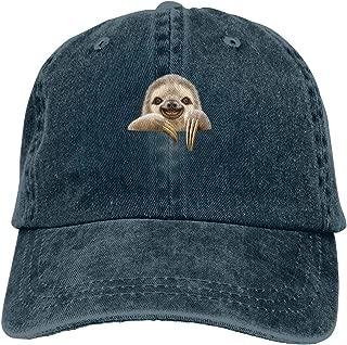 Waldeall Pocket Sloth Vintage Cotton Denim Cap Unisex Adjustable Baseball Hat