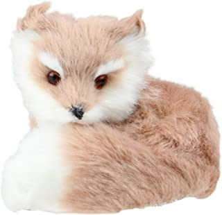 "Kurt Adler 3.25"" Brown and White Woodland Furry Sitting Fox Christmas Ornament"