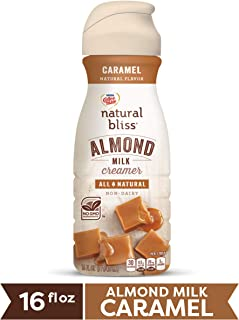 COFFEE MATE NATURAL BLISS Almond Milk Caramel All-Natural Liquid Coffee Creamer, 16 Fl. Oz. Bottle | Non-Dairy Creamer