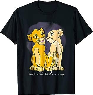 Lion King Simba Nala Love Valentine's Graphic T-Shirt