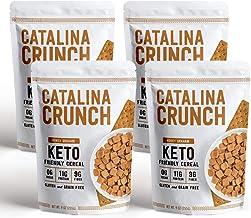 Catalina Crunch Honey Graham Keto Cereal (4-Pack): Keto Friendly, Low Carb, Zero Sugar, Plant Protein, High Fiber, Gluten ...