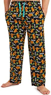 Scooby Doo Pyjamas for Men, 100% Cotton Mens Pyjamas Bottoms with Print of Scooby, Lounge Pants Mens with Elasticated Wais...