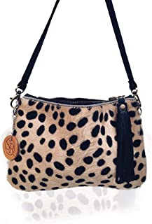 USA Made Hair on Hide Cheetah Clutch Purse