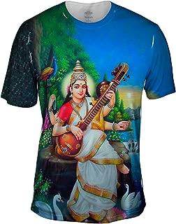 India - Goddess Saraswati -Tshirt- Mens Shirt
