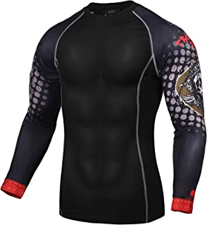 Mens Long Sleeve Compression Shirt Cool Dry Workout T-Shirt Base Layer Runing Gym Athletic Top Shirt