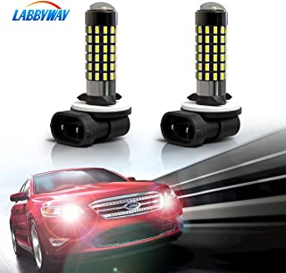 LABBYWAY 2 X 1000 Lumens 3014 78-EX Chipsets Super Bright 6000K LED Bulbs 881 894 896 886 LED Bulbs Used For DRL or Fog Lights,Xenon White