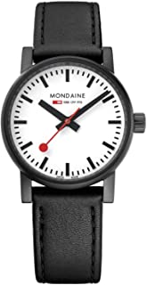 Mondaine - Evo2 - Reloj de Cuero Negro para Mujer, MSE.30111.LB, 30 MM