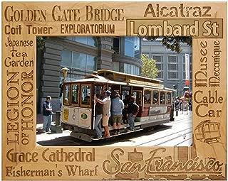 San Francisco Points of Interest Laser Engraved Wood Picture Frame (5 x 7)