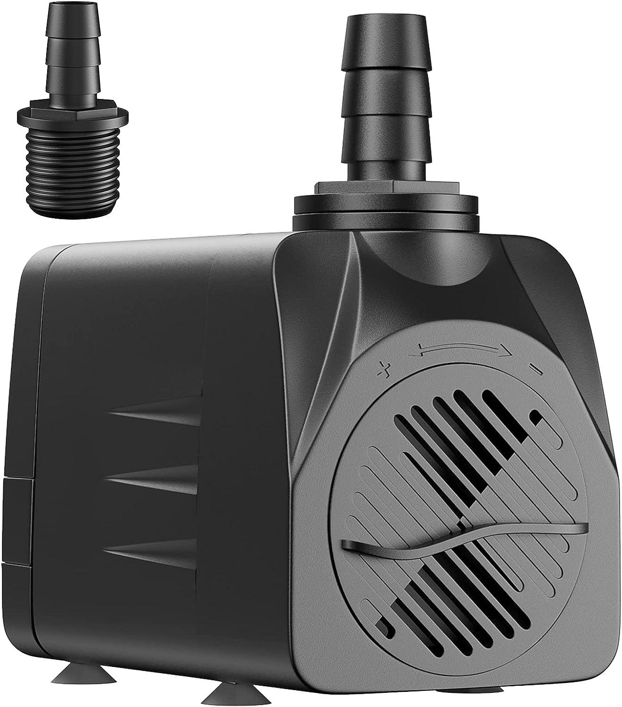 Uniclife Spring Ranking TOP18 new work UL400 Submersible Water Pump Hydropon 400 GPH Aquarium