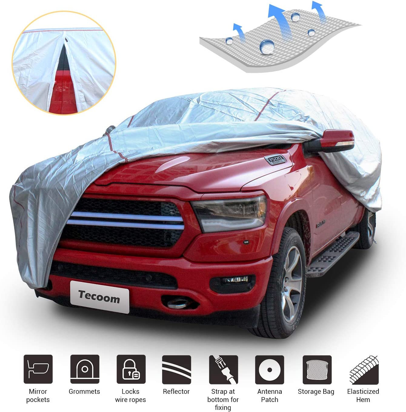 Tecoom Hard Shell Truck At the price of surprise Car Soldering Waterproof Windproof Cover UV-Proof