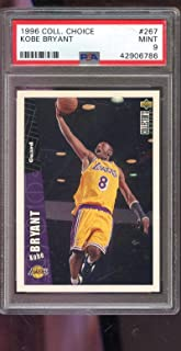 1996-97 Upper Deck Collector's Choice #267 Kobe Bryant ROOKIE RC MINT PSA 9 Graded NBA Basketball Card Collectors