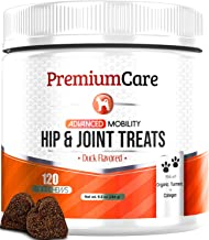 Glucosamine for Dogs - Advanced Hip & Joint Supplement for Dogs with Organic Turmeric, Chondroitin, Collagen & MSM - Supports Healthy Joint Function and Helps with Pain Relief - 120 Count Made In USA