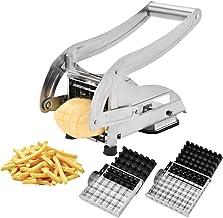 Coupe-Frites Professionnel Machine de D/écoupe de Pommes de Terre Trancheur de Pomme de Terre en Acier Inoxydable avec Base daspiration 36//64 Trous