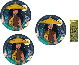 Raya and the Last Dragon Birthday Party Supplies Bundle Pack for 24 includes 24 Lunch Plates
