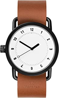 No. 1 White Watch | Tan Leather