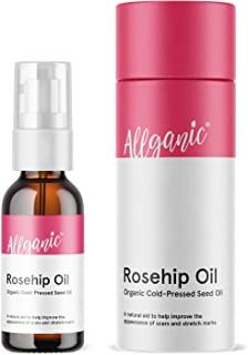 Allganic Rosehip Oil 50ml Organic, Cold-Pressed Seed Oil.