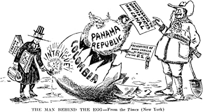 Panama Canal Cartoon 1903 Nthe Man Behind The Egg American Cartoon 1903 Giving Philippe-Jean Bunau-Varilla (Left) Credit For The Negotiations By Which President Theodore Roosevelt Acquired The Panama