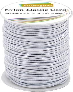 EuTengHao 2mm Nylon Elastic Cord for Bracelet Satin Nylon Decorative Cord Nylon Hand Knitting Cord String Beading Thread B...