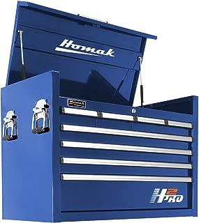 Homak H2PRO Series 36-Inch 8-Drawer Top Chest, Blue, BL02036081