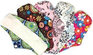 4 Bamboo Mama Cloth/ Menstrual Pads/ Reusable & Water proof Sanitary Pads / Panty Liners - PRINTS (Mixture Prints)