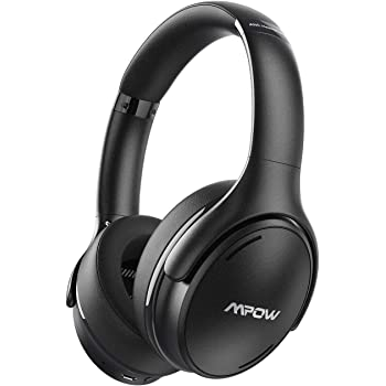 Mpow H19 IPO Active Noise Cancelling Headphones, Bluetooth 5.0 Wireless Headphones with CVC8.0 Microphone, Hi-Fi Stereo Deep Bass, Rapid Charge 35H Playtime for TV, Online Class, Home Office