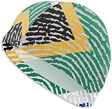 South Africa Comfortable Fit Swimming Cap for Men Women Adults Youths,3D Ergonomic Design